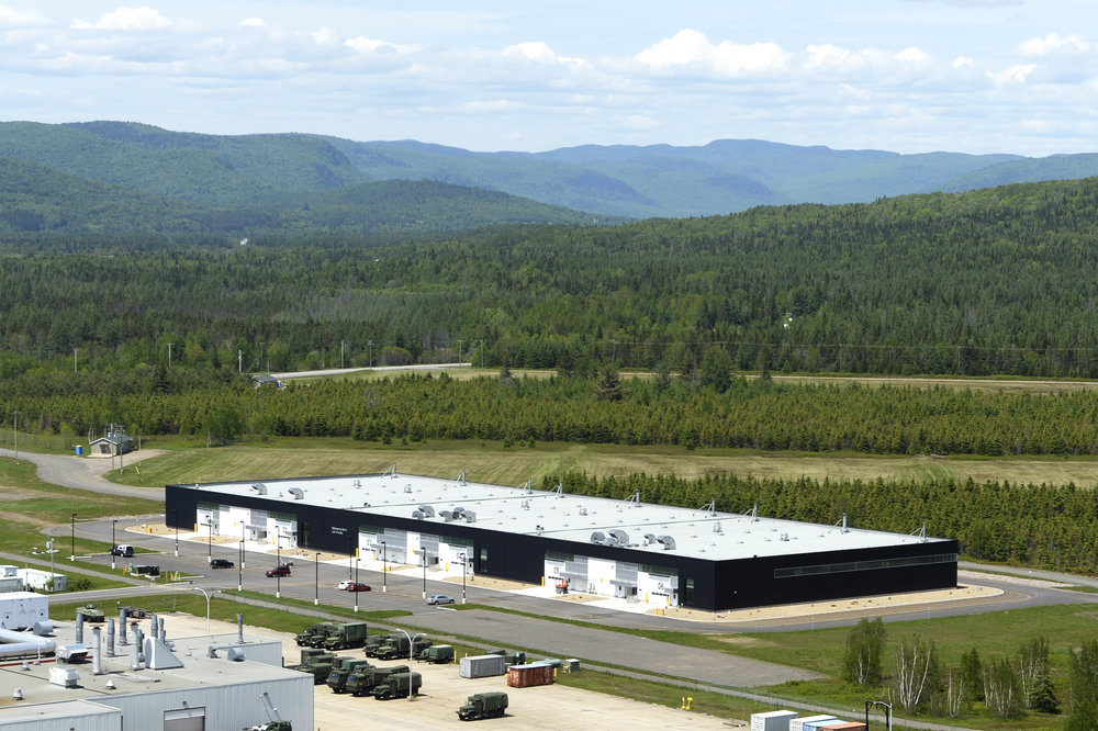 Aerial View of the LAV III Storage Facility at Valcartier