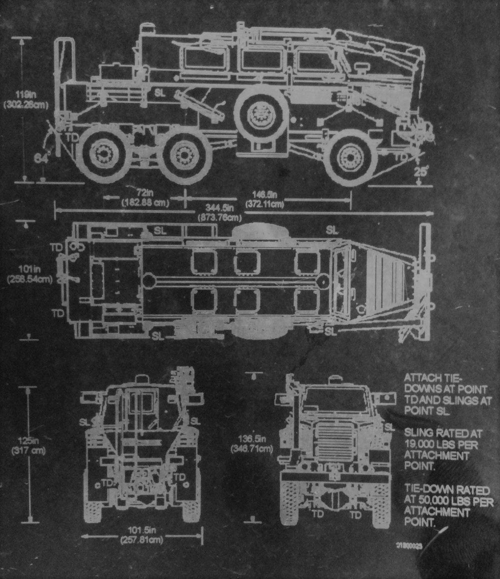 EROC Bison Vehicle Information Plate