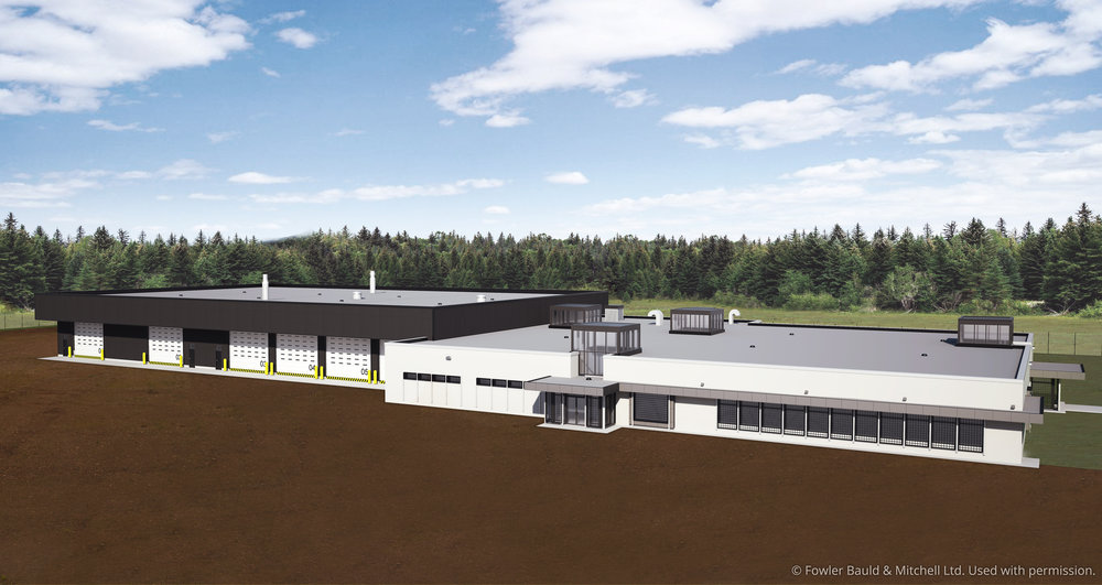 Rendering of the EOD Facility