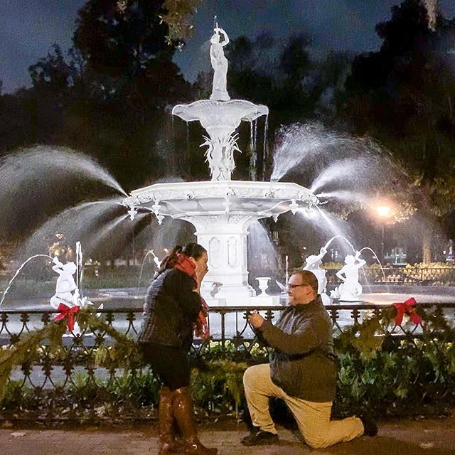 What an amazing night in Savannah to say yes to the man of my dreams! When I woke up this morning I had no idea how absolutely amazing today would be! Wow what an amazing night to be engaged! Pinch me, I'm dreaming. Jose, I love you so much! Here's to our future! 💍