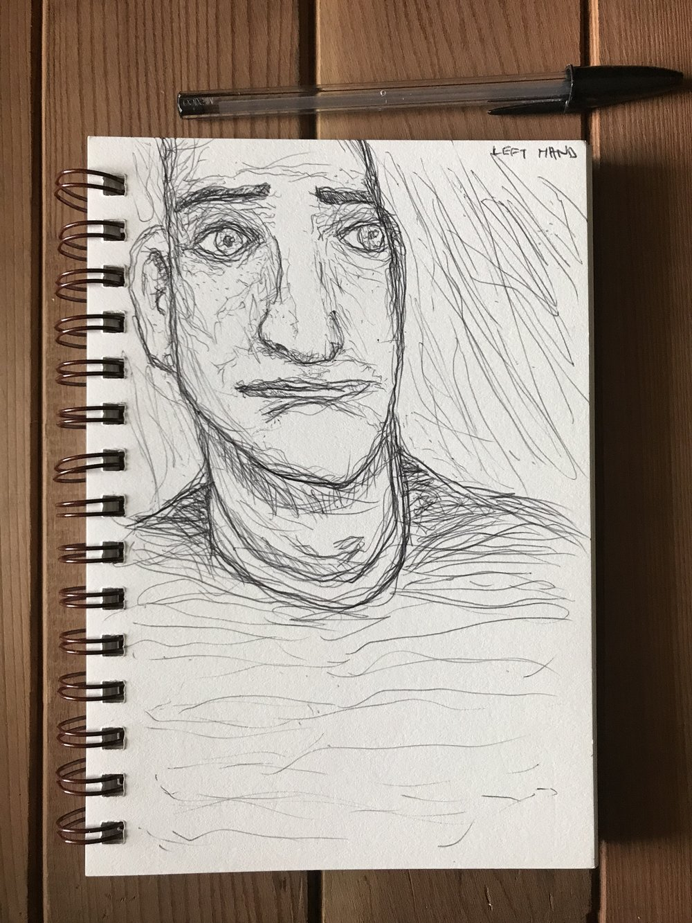 Decided to do a portrait from imagination, the proportions came out all strange, but very interesting.