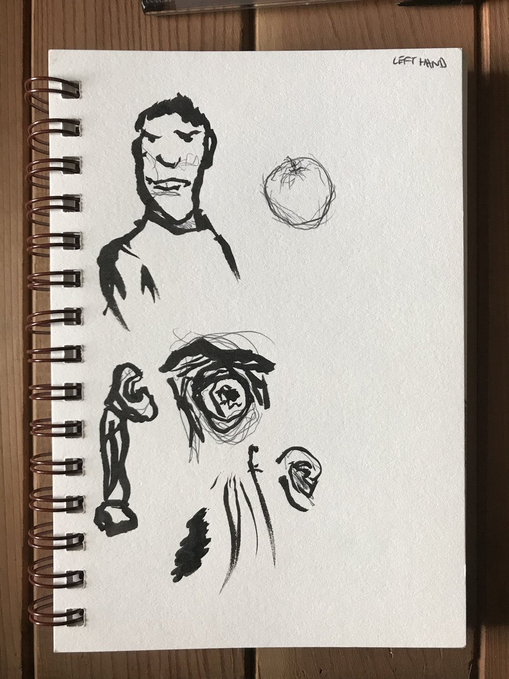 Tried a brush pen, wasn't really happy with the results so this was the only day I didn't just use a pen.