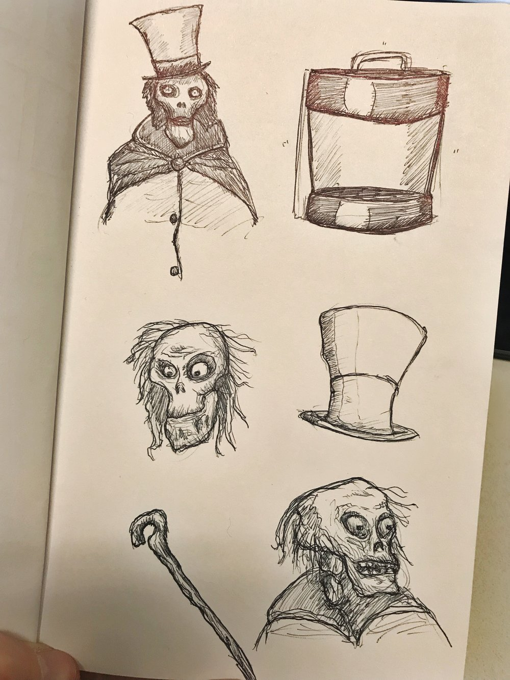 Some random ghost sketches