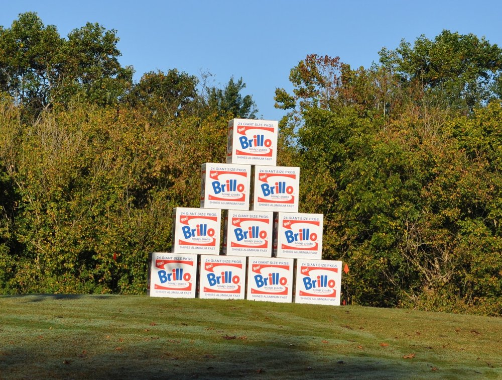"Can you shoot around a tower of giant Andy Warhol-esque ""Brillo Boxes."""