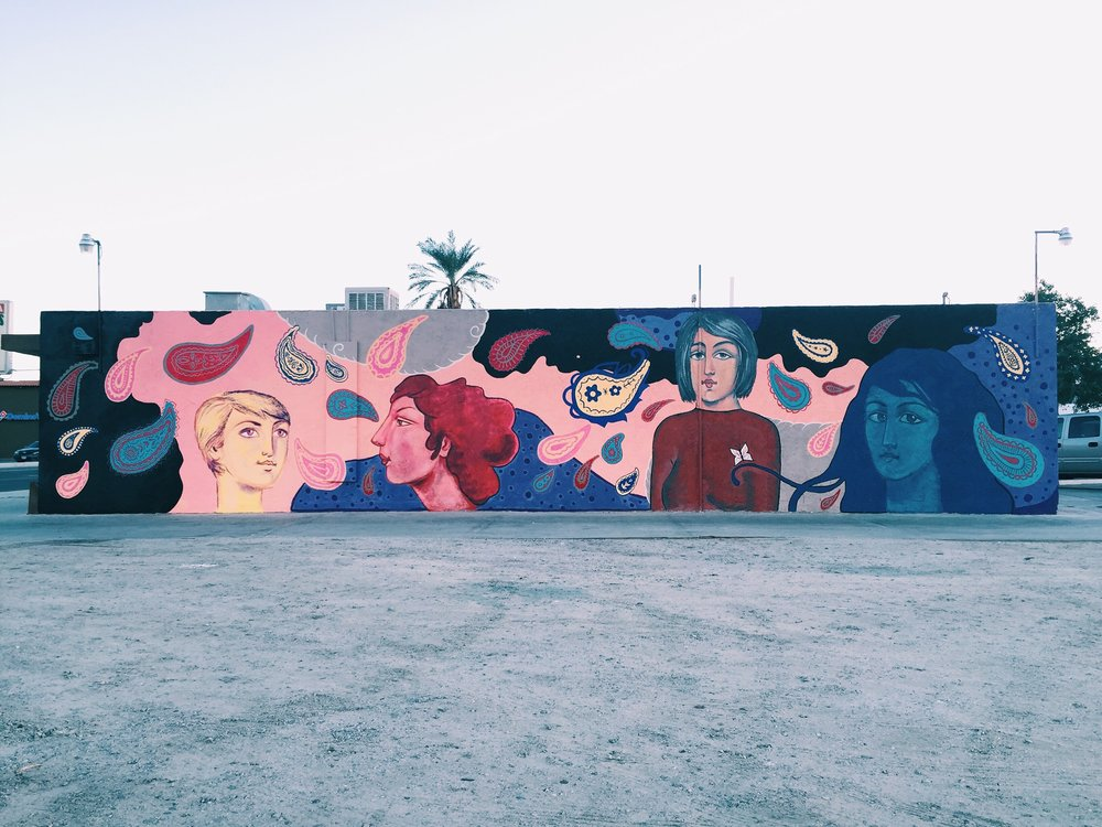 Empowerment of Women Mural. Coachella, CA. 2015