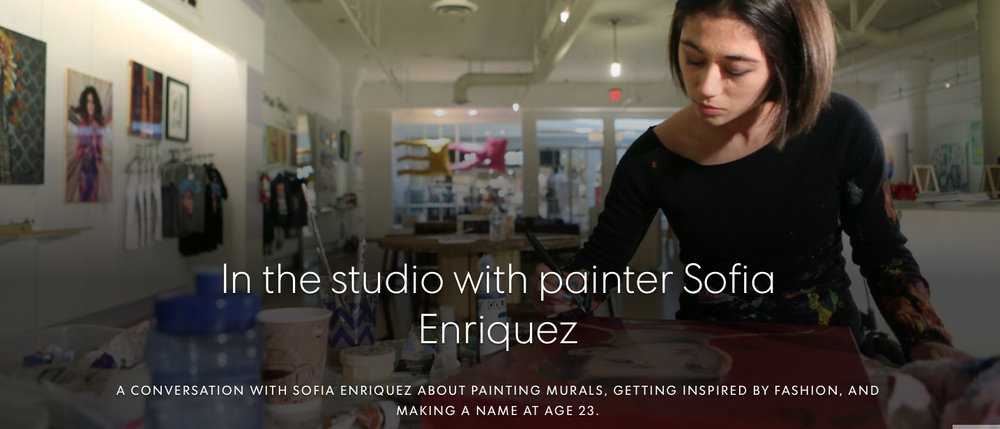 Artists Series: In the studio with painter Sofia Enriquez - Story by Rosalie Murphy Photographs and video by Marilyn Chung