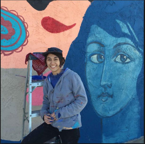 Artist Sofia Enriquez Creates Mural in Coachella -