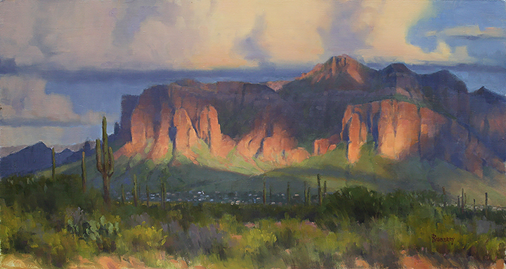 Rasberry_Cloud Breaks over the Superstitions_ 16x30_2018[LR].jpg