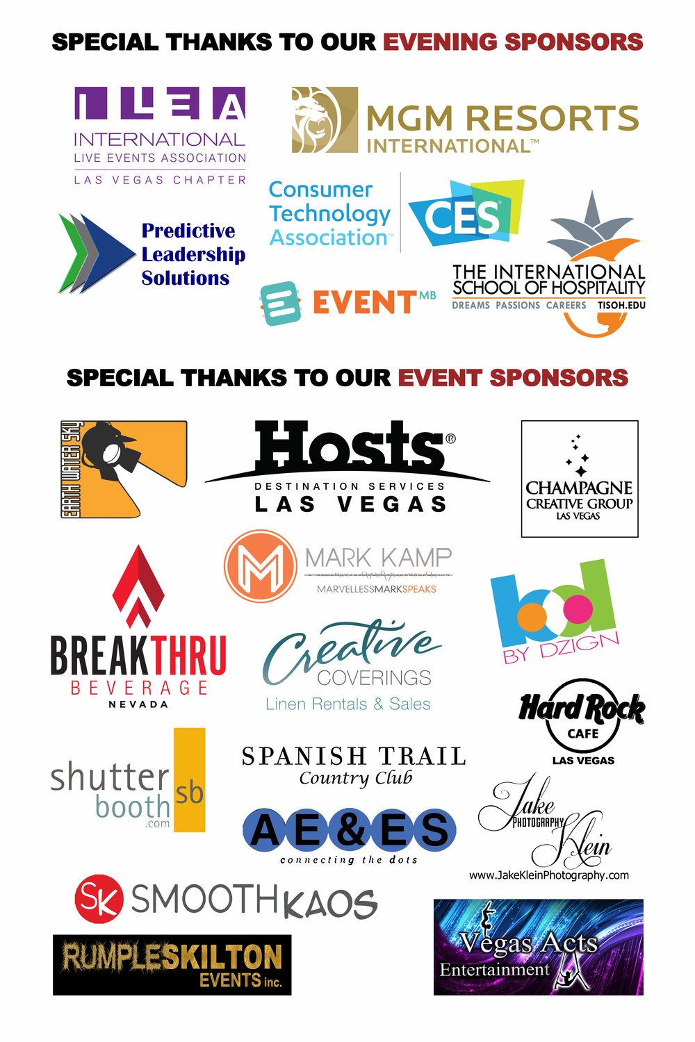 2017 Spirit of Hospitality Evening & Event Sponsors - Special thanks to our evening and event sponsors for the 2017 TSYLF Spirit of Hospitality Awards.