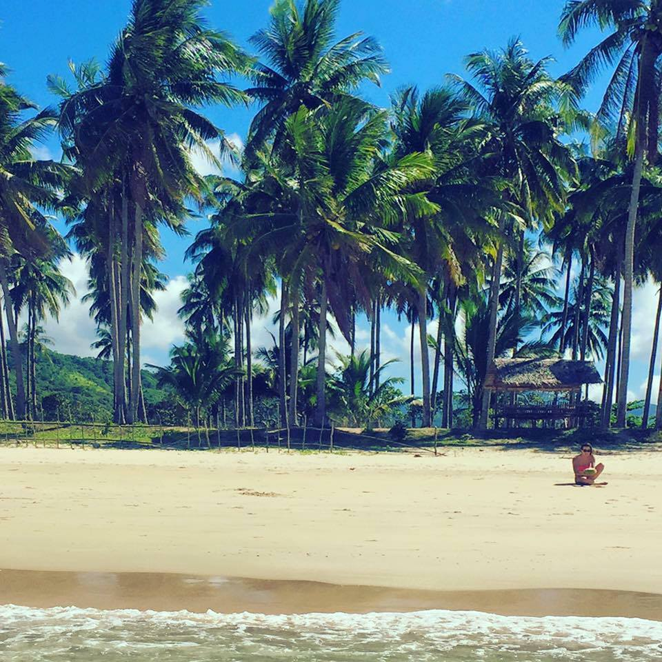 Natasha in December 2016 on Nacpan Beach, El Nino, Palawan, Philippines
