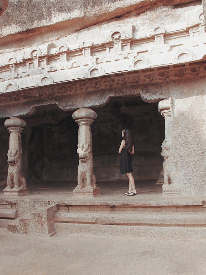 Natasha in Mahabalipuram