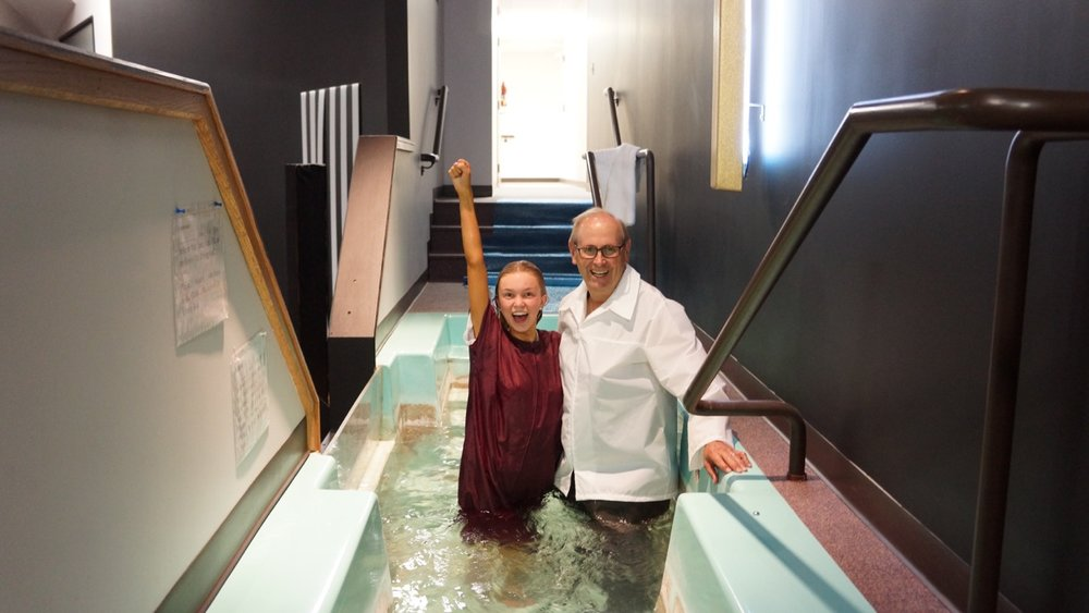 Whoever believes and is baptized will be saved, but whoever does not believe will be condemned. Mark 16:16  If you have a desire to be baptized go forward during the invitation at any of our weekend services or contact the church office for more information.