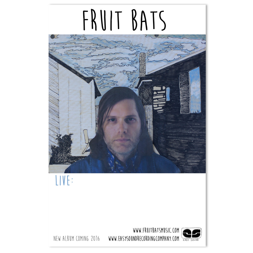 Fruit Bats Tour Poster | Photo and Illustration by Annie Beedy