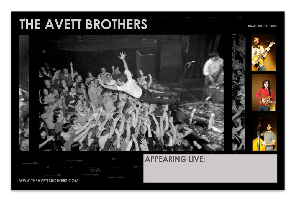The Avett Brothers Tour Poster | Photo by Crackerfarm