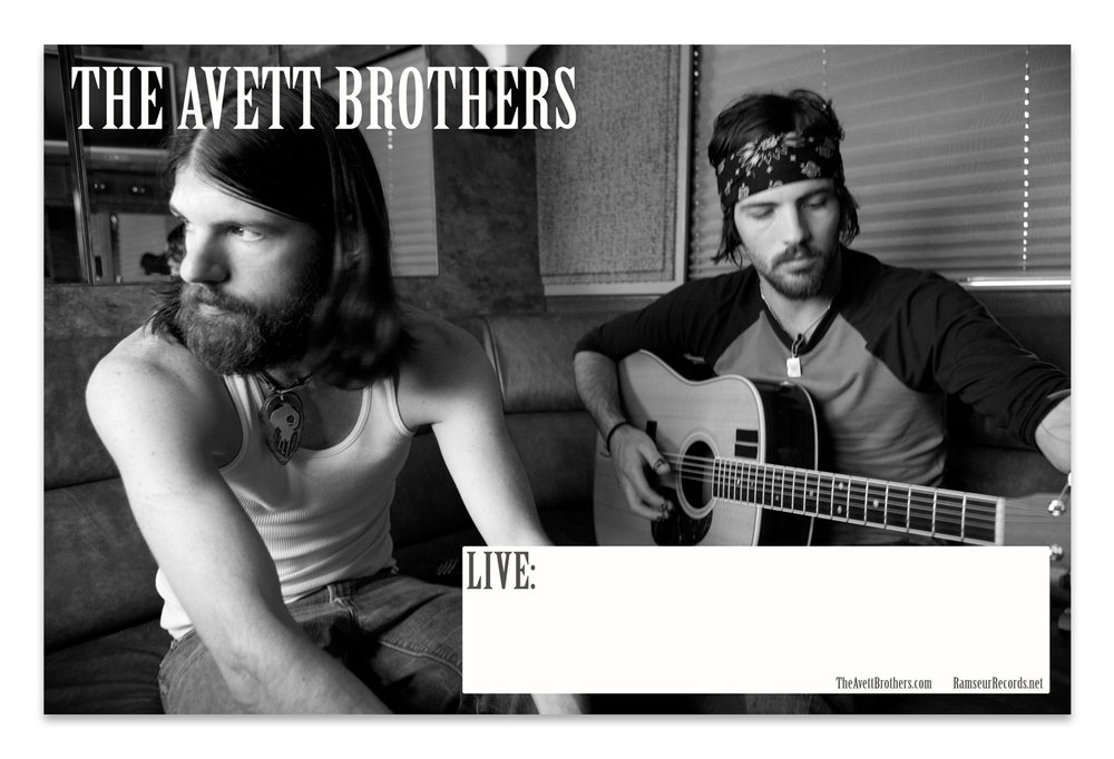 The Avett Brothers Retail Poster | Photo by Crackerfarm