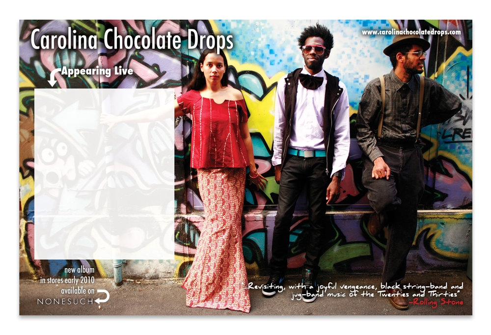 Carolina Chocolate Drops Tour Poster | Photo by Julie Roberts