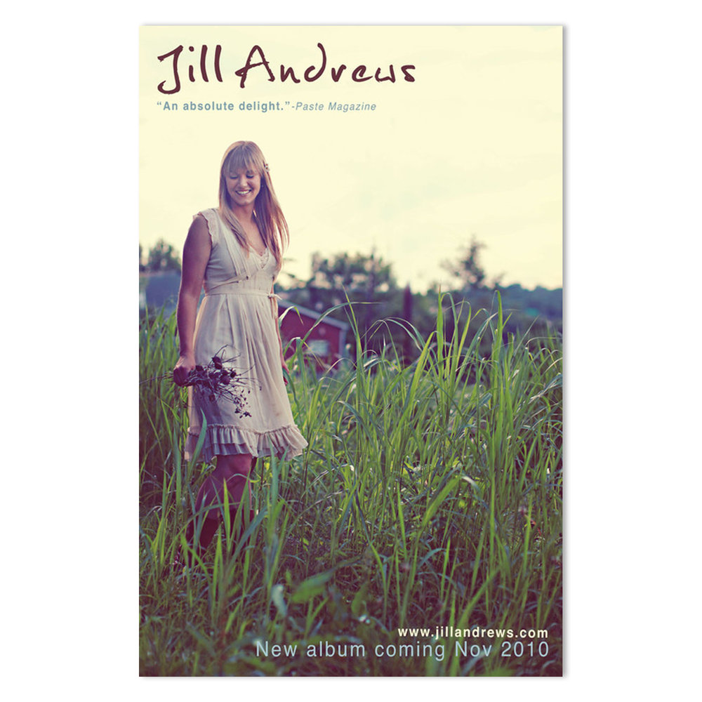 Jill Andrews Tour & Retail Poster |  Photo by Julie Roberts