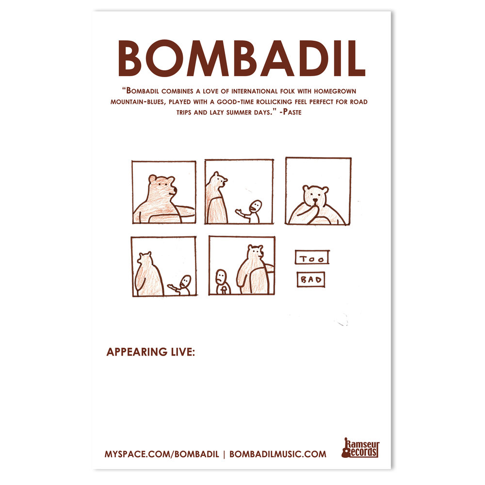 Bombadil Tour Poster | Illustration by Bryan Rahija