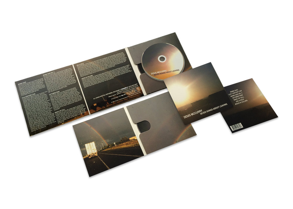Doug McCurry Seven Songs About Leaving CD Package| Layout, Concept & Photography.
