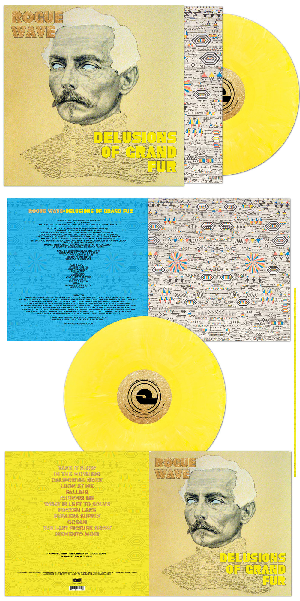 Rogue Wave Delusions of Grand Fur Vinyl Package | Layout and Concept. Images by Matthew Craven