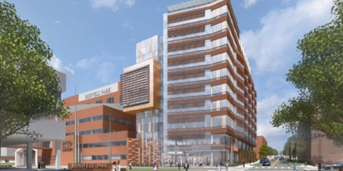 New Clinical Science Center under construction at the Roswell Park Cancer Institute