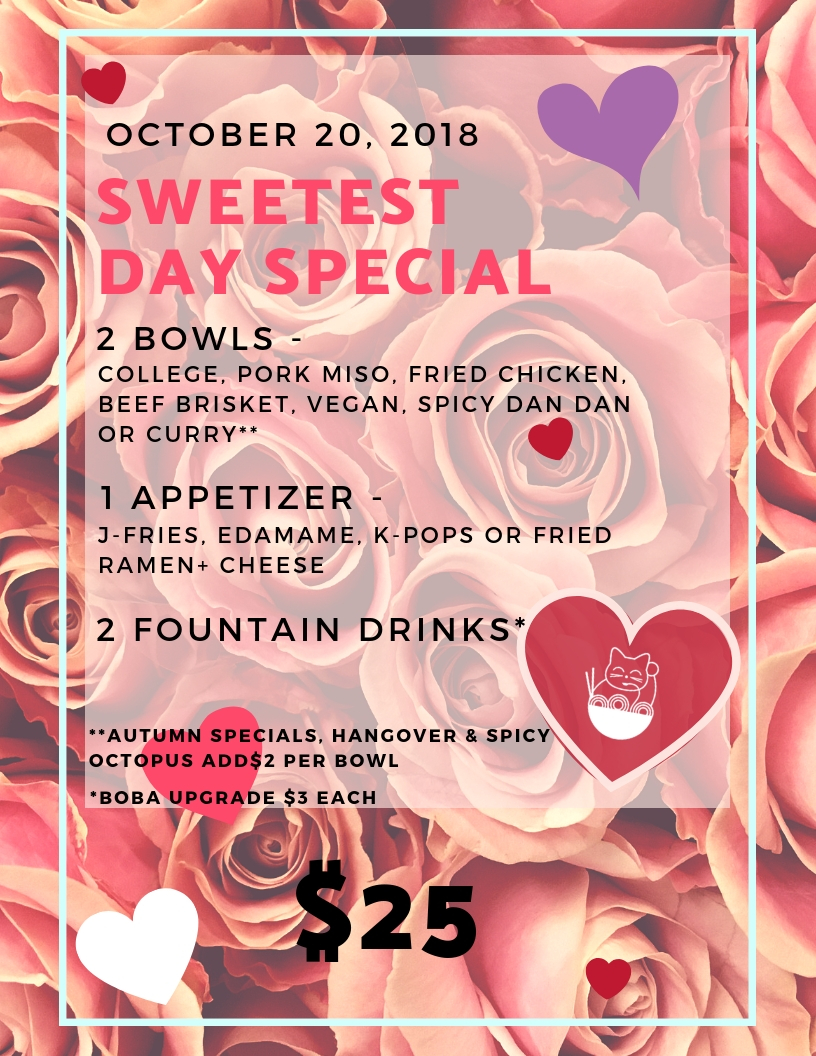 Sweetest Day Special Noodlecat