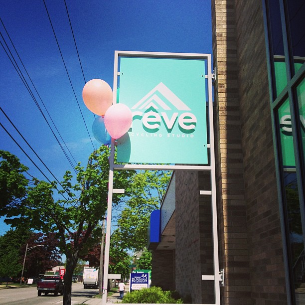 Opening balloons! To sign up for a class please go to our website revecyclingstudio.com! Can't wait to see you in the studio.