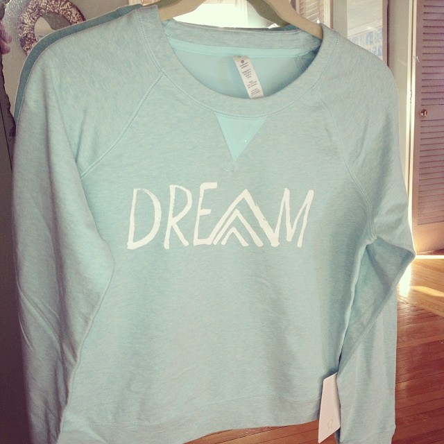 Come check out our new Dream Sweatshirts in Aqua and Lavender!