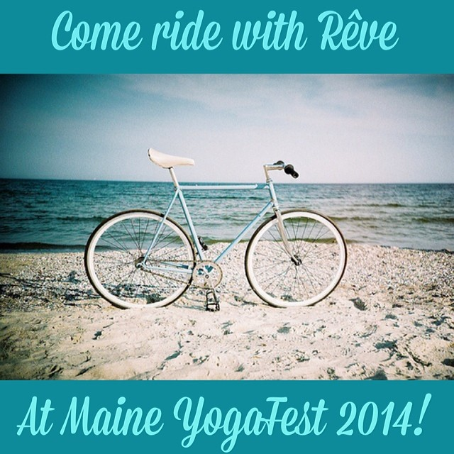 Rêve is headed to Maine YogaFest this summer! Check out the blog for more details and to learn how you could win a FREE 3 class pass just by riding! http://revecyclingstudio.com/news/ #revecycling #maineyogafest2014