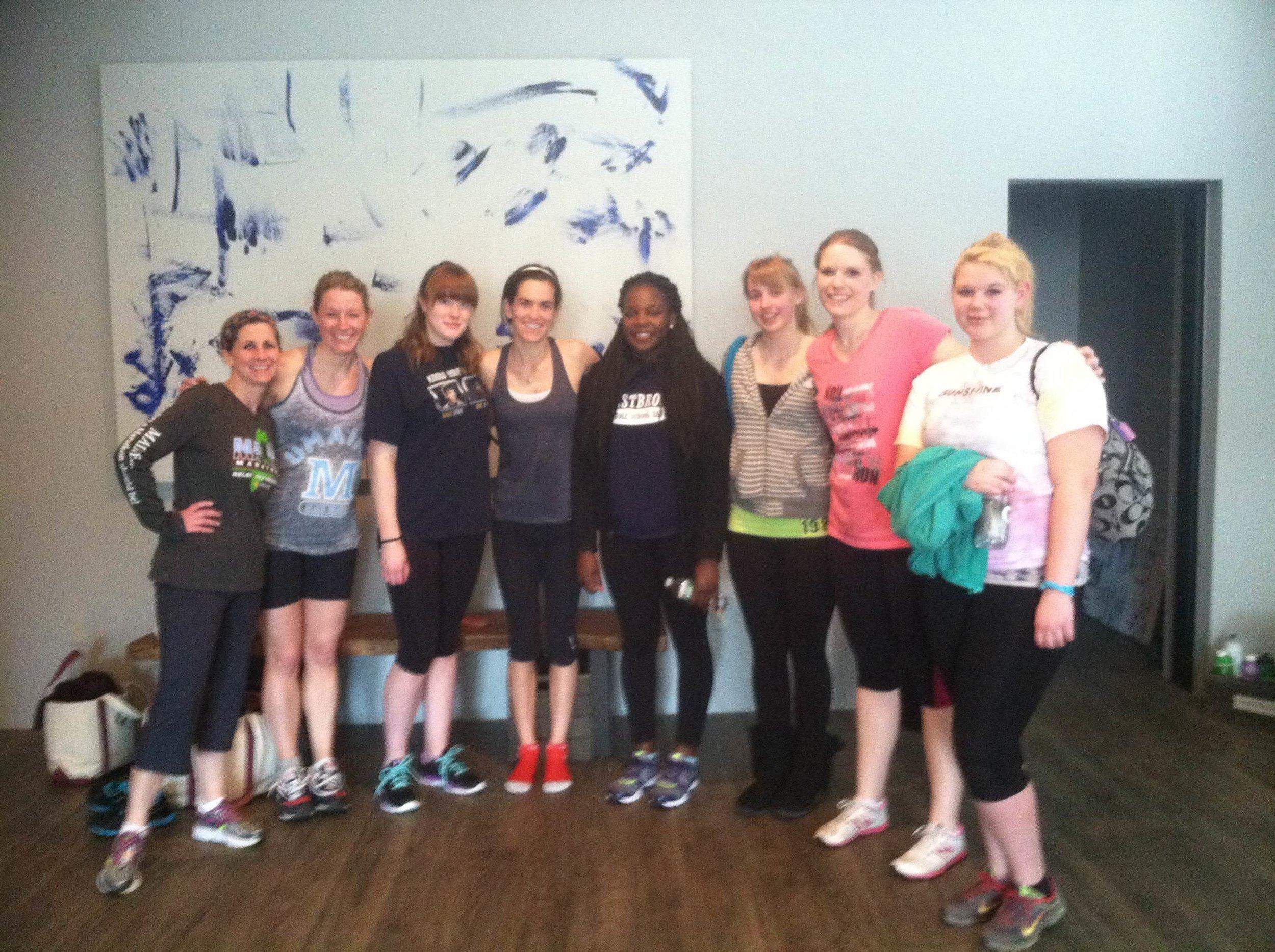 Girls group spin class 2