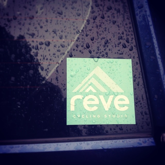 Our new @revecycling stickers are making us feel a lot better about this rainy day! Get yours at the studio while supplies last! #revecycling #portlandme