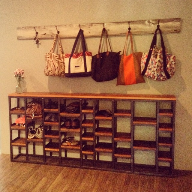 We love seeing our new shelves from Artas Designs being used at the studio! #artasdesigns #madeinmaine