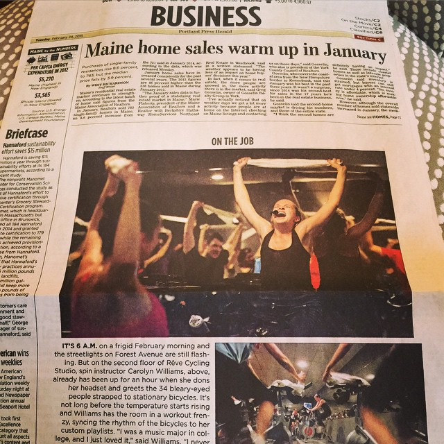 We're so excited to be on the front page of the Portland Press Herald Business Section today!! @portlandpressherald #onthejob #reveitup #revecycling
