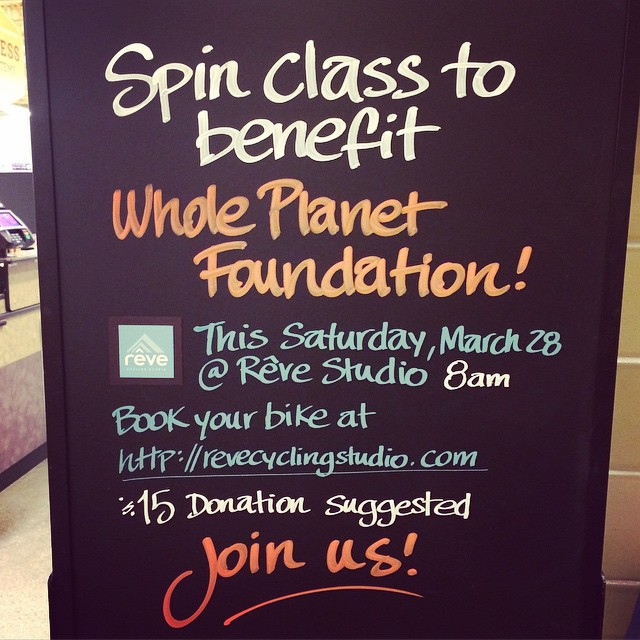 So excited to team up with @wfmportlandme for the second year in a row to benefit @wholeplanet. Tomorrow morning's ride is nearly sold out! See you there and happy weekend, Rêvers!