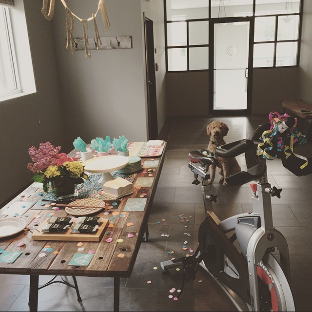 Today is Rêve's 2nd birthday. Thank you, Rêvers, for making the past two years incredible. Excited to celebrate all weekend long! Book a bike for the long weekend (we just added an additional Monday class at 7 am!) and stop by for @tandemcoffeeroasters coffee and @scratchbakingco cake plus snacks anytime tomorrow morning! Can't wait to see you at the studio.