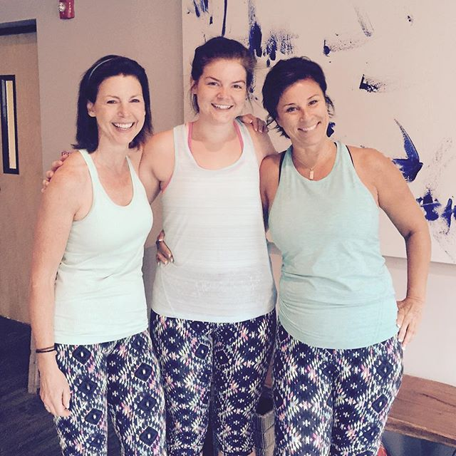 With these tights, Corinn, Emily and Theresa win best dressed for this morning's 9:30 cycle! Looking good, ladies!