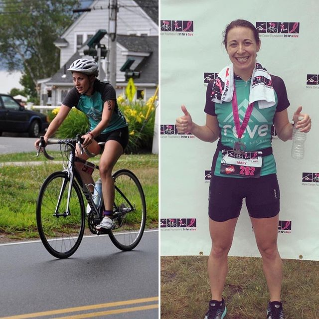 "#tbt to Rêve instructor Mary Emmi capturing 13th place overall at the Tri for a Cure. Of her journey to an epic finish, she said: ""I initially started going to Rêve to prep for my first Tri For A Cure in 2015. I've gained so much confidence as an endurance athlete because of Rêve. For this race, I had the goal of placing in the top 25, and I did that...and then some!"" #rêveitup #inspiration"