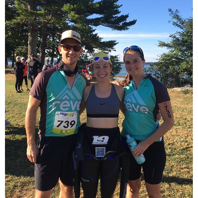 This fearsome threesome is representing Rêve at today's Lobsterman Triathlon! Sending them the speediest vibes! 🏽🚵🏼🏽 #rêveitup