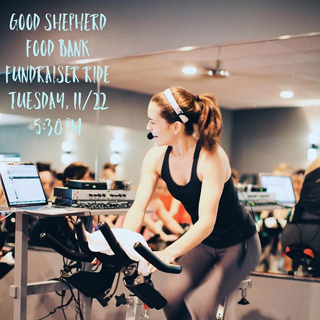 Join Steph C. this Tuesday at 5:30 p.m. for a very special free ride for a great cause. Reserve a bike today and bring a donation of at least $15 all to benefit Good Shepherd Food Bank!