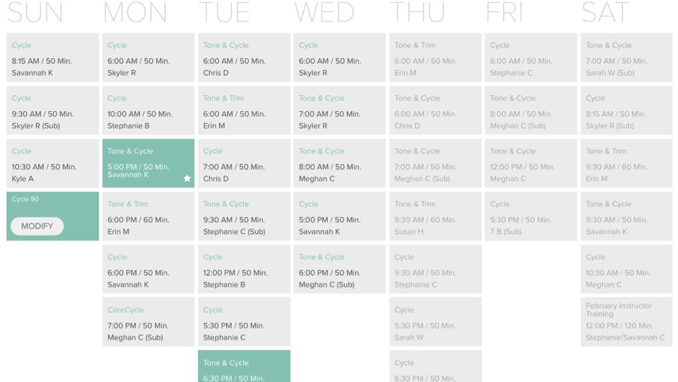 Modify Schedule