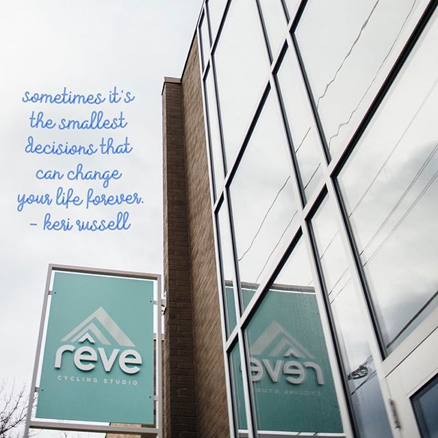 Today seems like a good day to make some small decisions that may spark big changes! #rêveitup