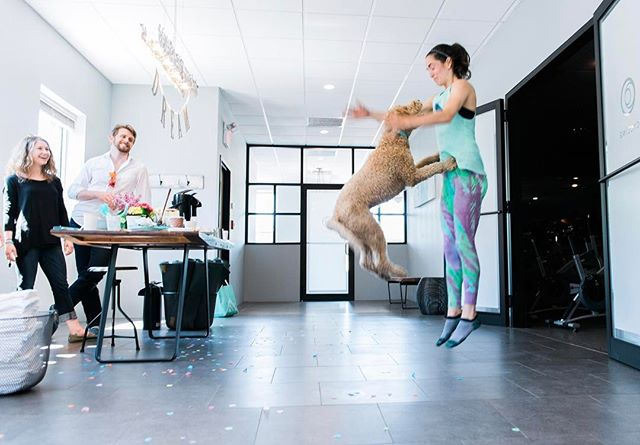 Our 4th Anniversary has us jumping for joy! Come by the studio tonight to celebrate with great playlists and a cake from @scratchbakingco. We can't wait!