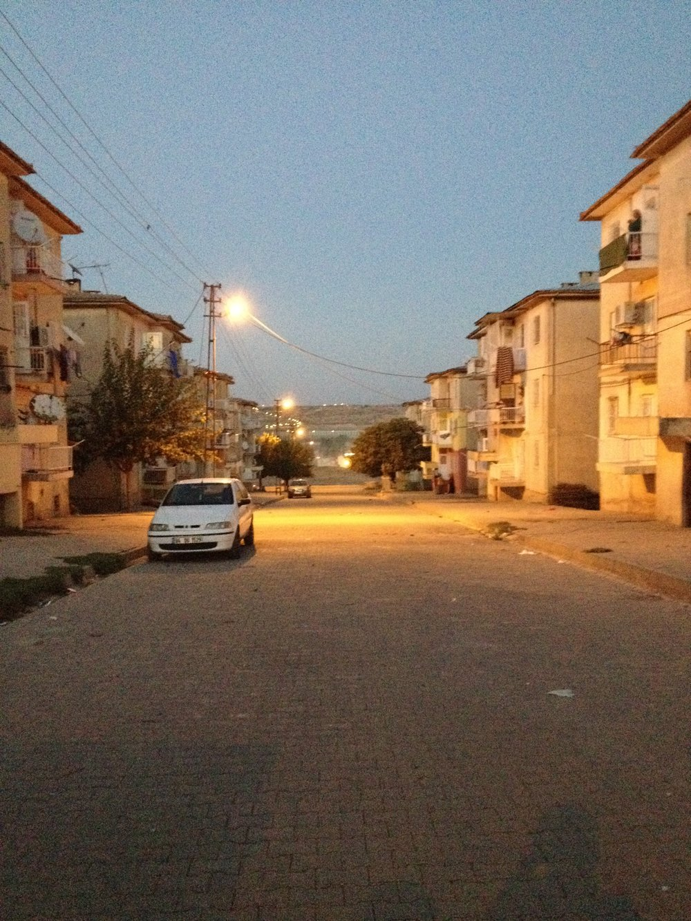 The streets of the refugee camp
