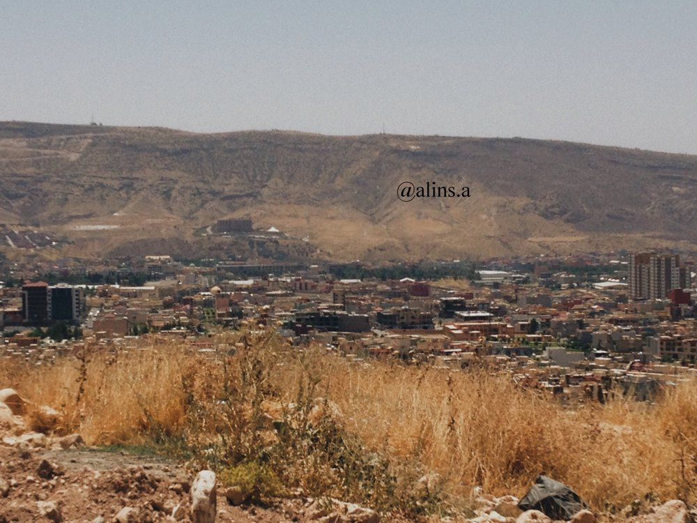 The moutains; the cemetery looking over life in Duhok.