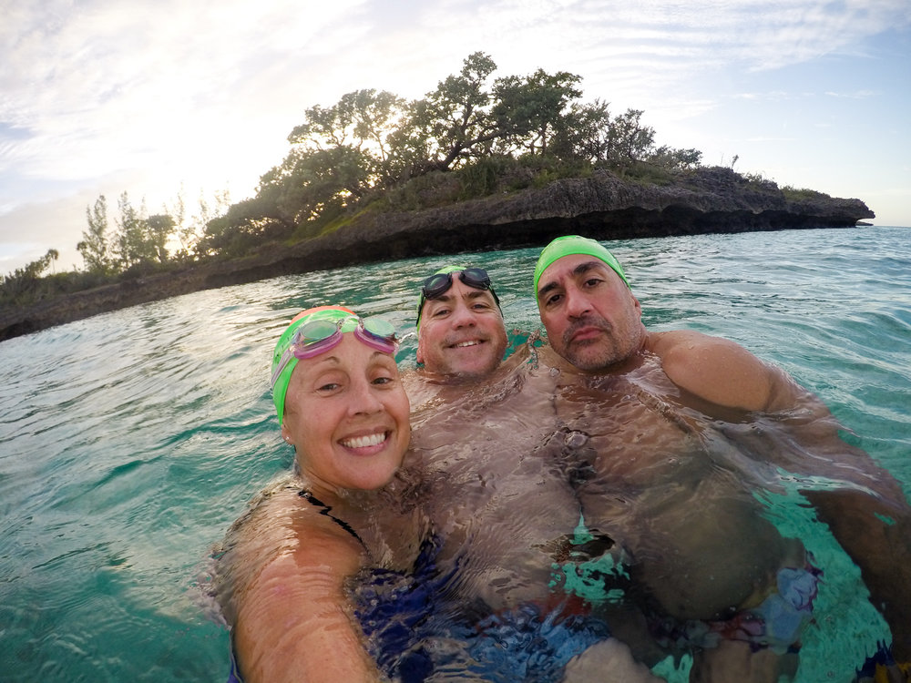 Heather, Hopper and Dave. A great week of guiding a great group of swimmers.