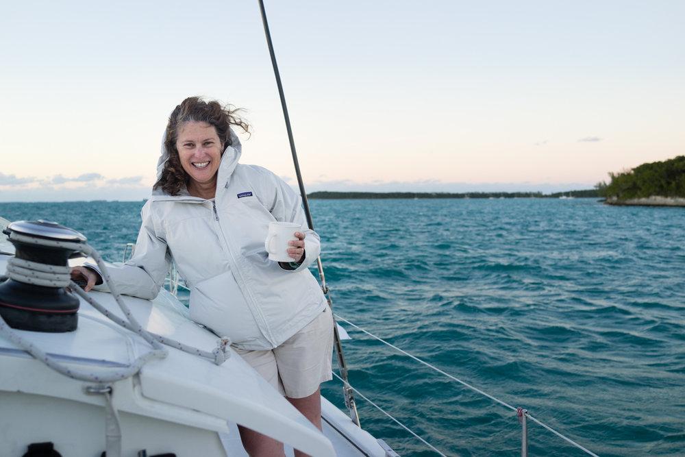 Myssie just enjoying being on the boat.