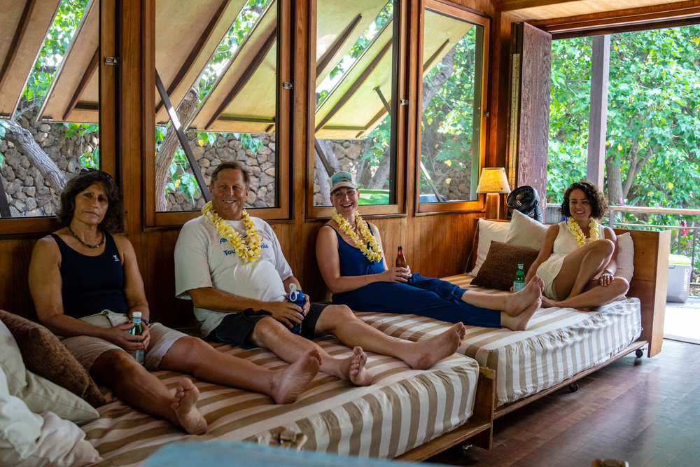 Our guests took quickly to the giant Punee in our lovely open living space.
