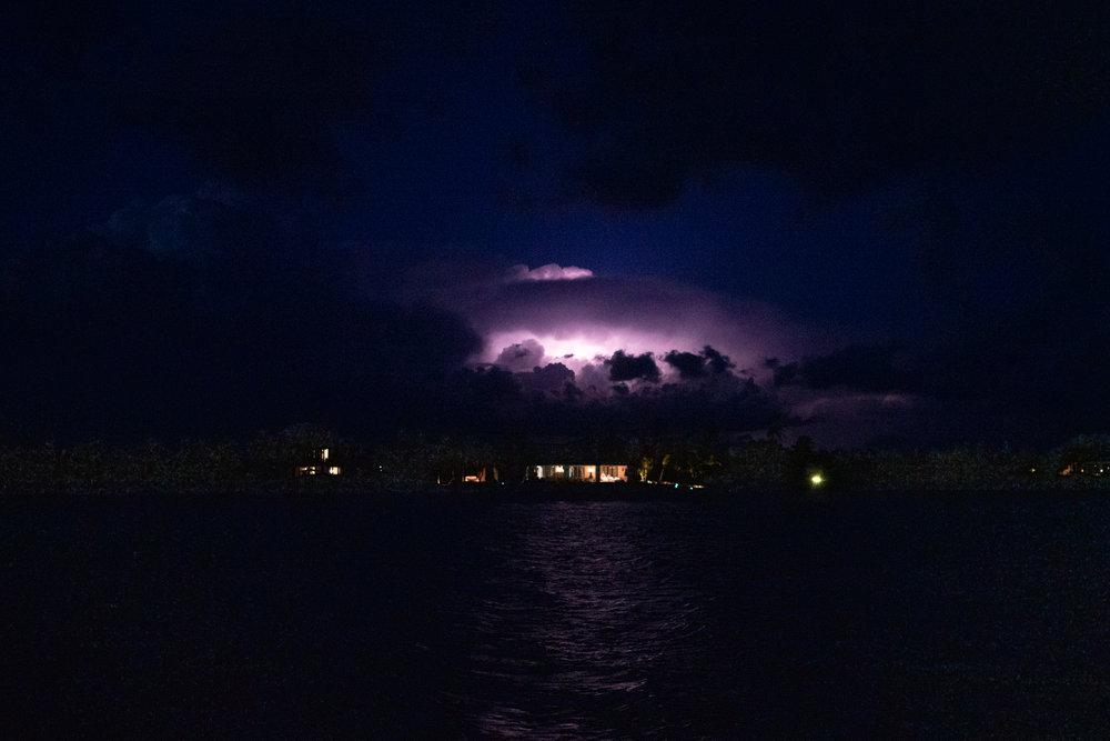 Last night's light show in Baker's Bay. Heat lightning for hours.