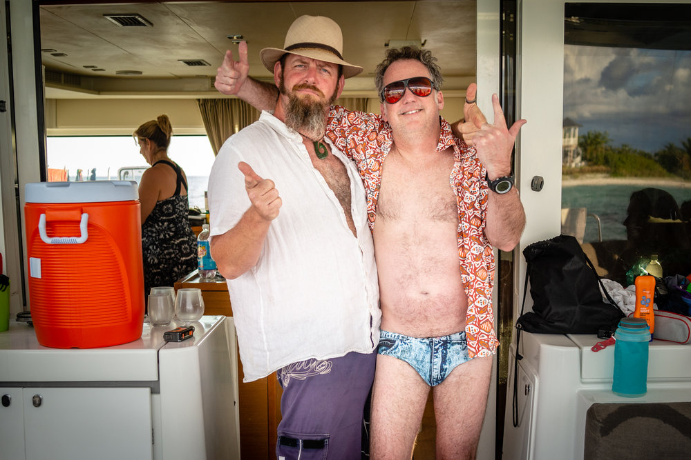 Richie and Hopper in an outfit that makes us all just a little uncomfortable….
