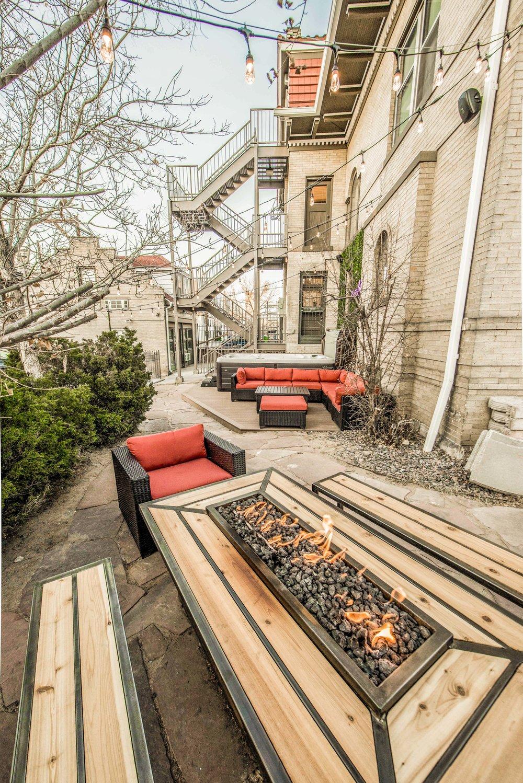 Ember Hostel courtyard